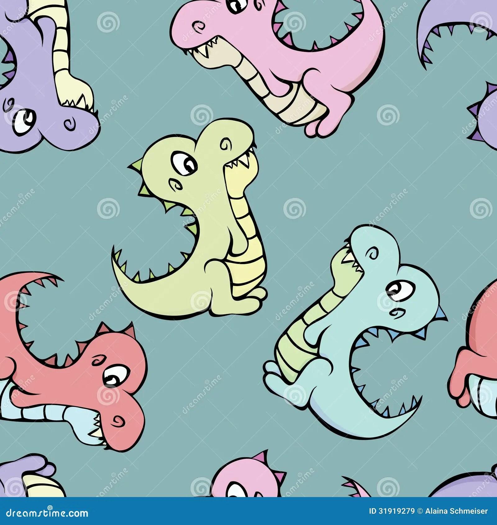Dinosaur Pattern Royalty Free Stock Images