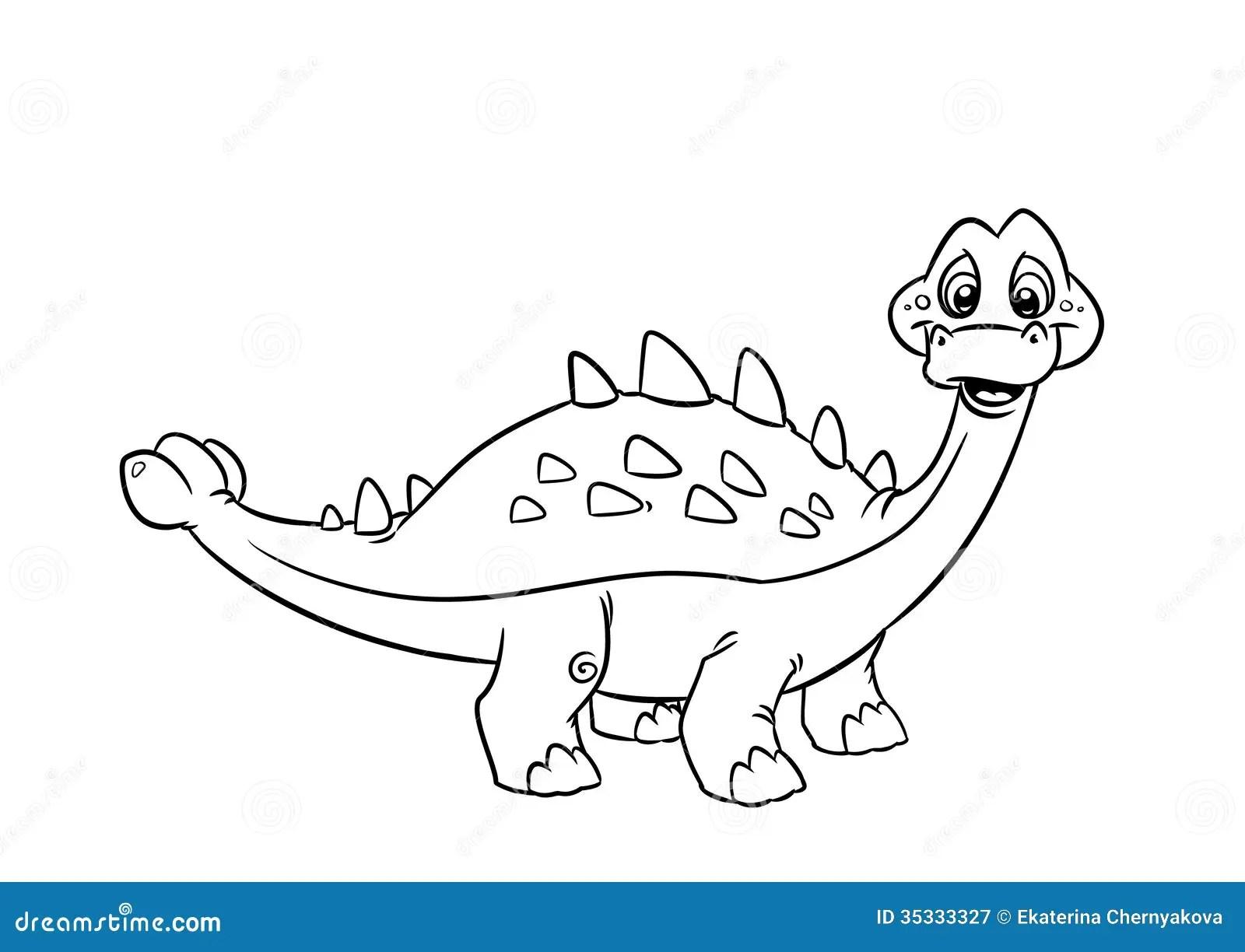 Dinosaur Pinacosaurus Coloring Pages Stock Illustration