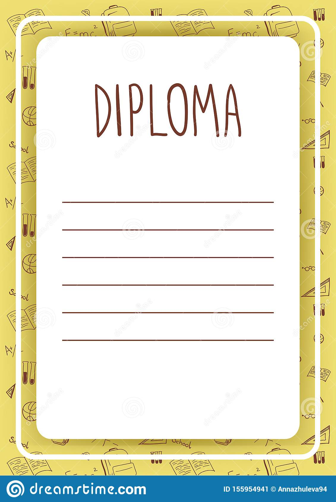 Diploma Template For Kids Certificate Background With