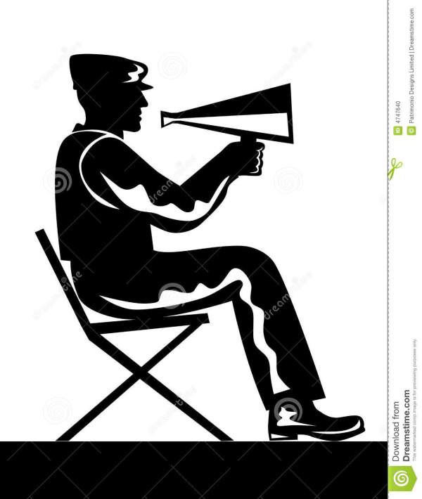 Director with megaphone stock vector. Illustration of ...