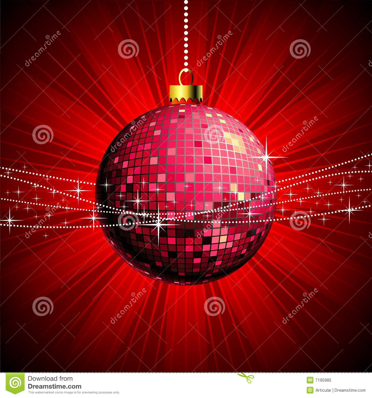 Disco Christmas Illustration Stock Vector Image 7195985