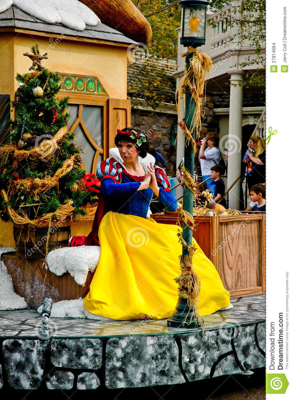 Disney Character Snow White In Holiday Parade Editorial