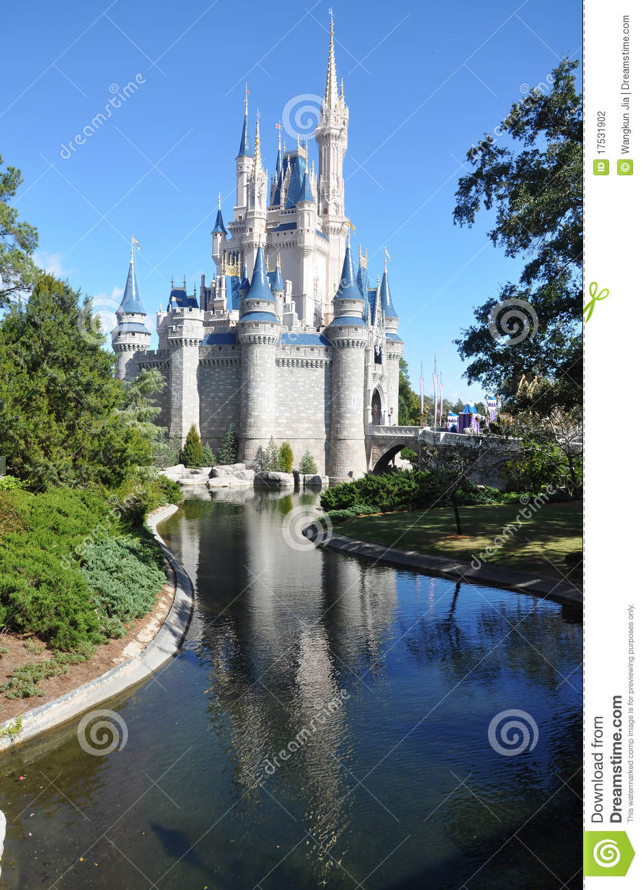 Disney Cinderella Castle Walt Disney World Editorial