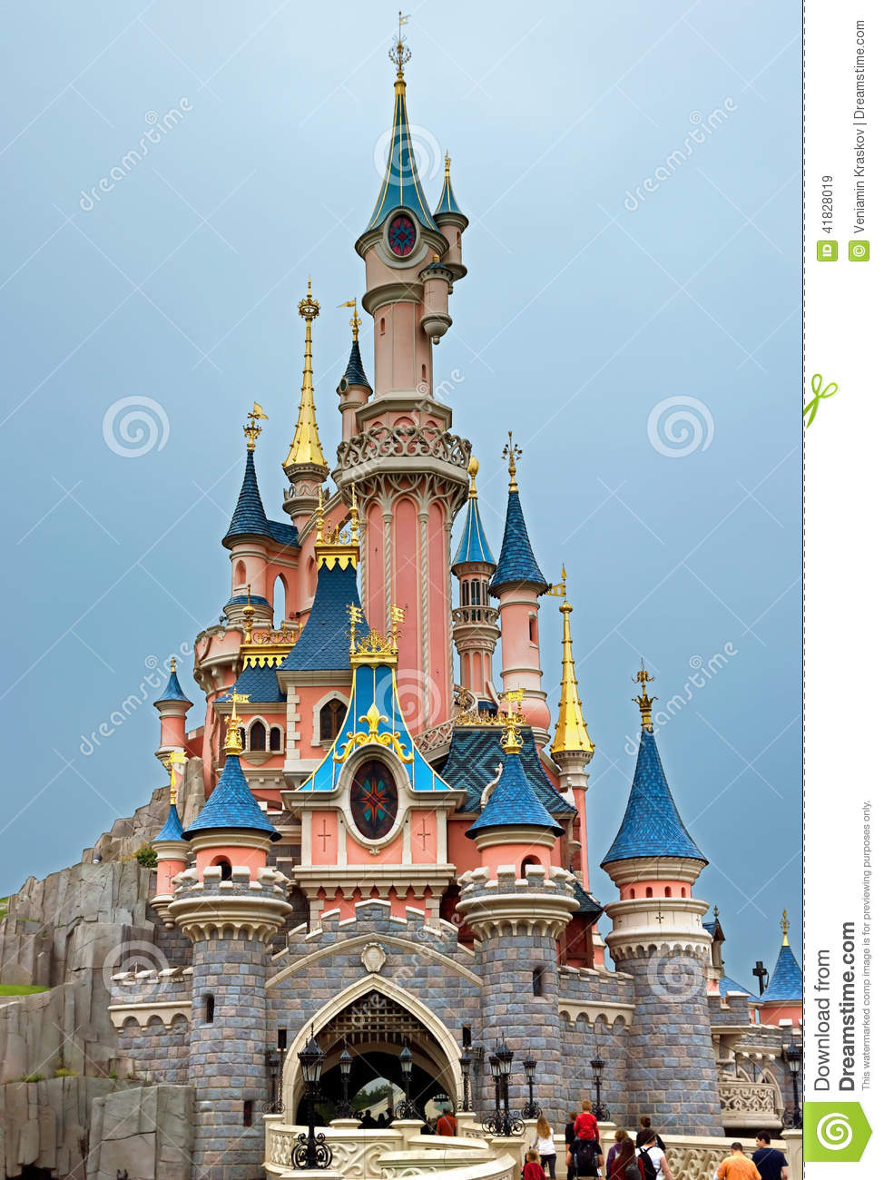 Disneyland Sleeping Beauty Castle Editorial Stock Image