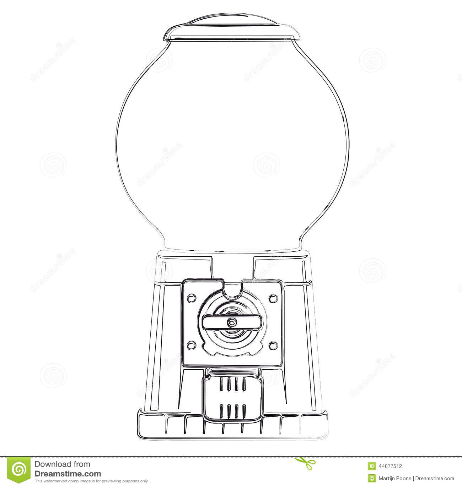 Distributeur Automatique De Boule De Gomme Illustration De