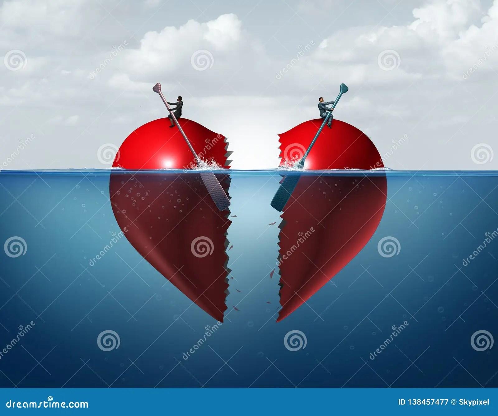 Divorce Separation Stock Illustration Illustration Of