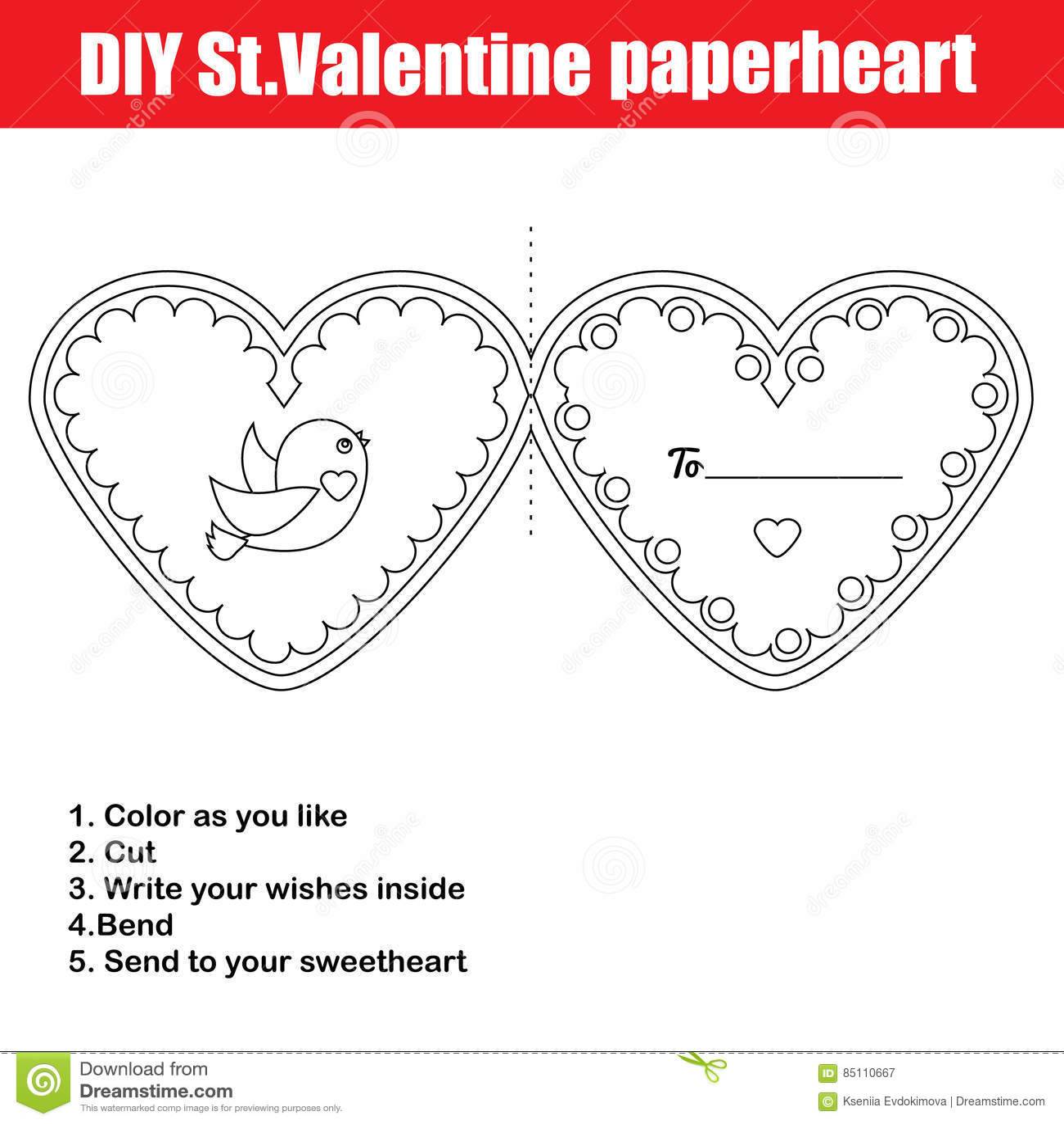 Diy Children Educational Creative Game Make A Valentine