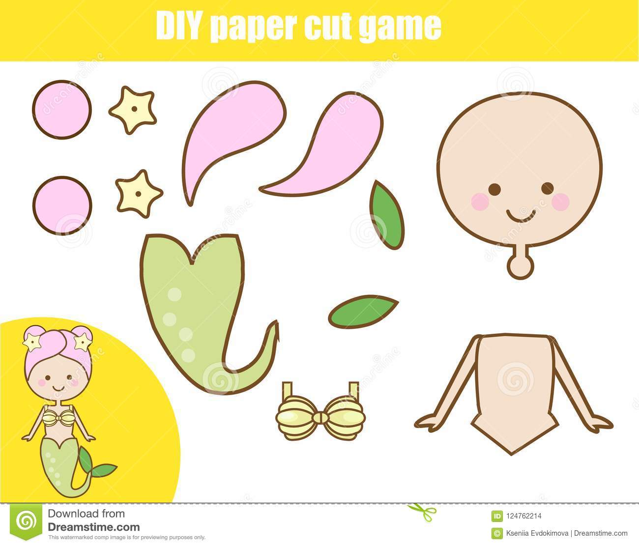 Diy Children Educational Creative Game Paper Cutting