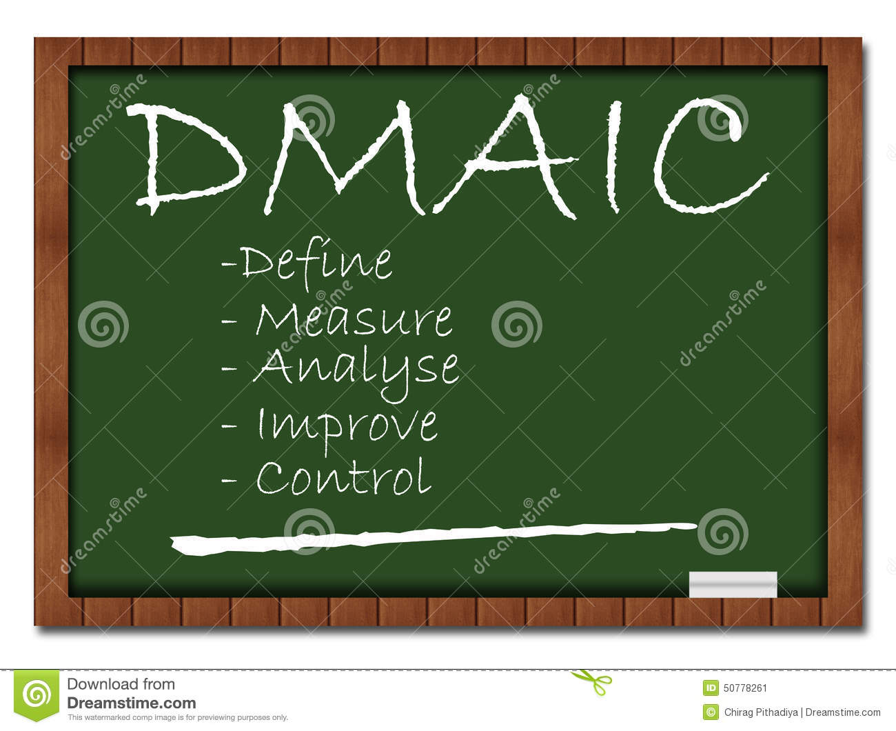 Dmaic Classroom Board Stock Illustration Illustration Of