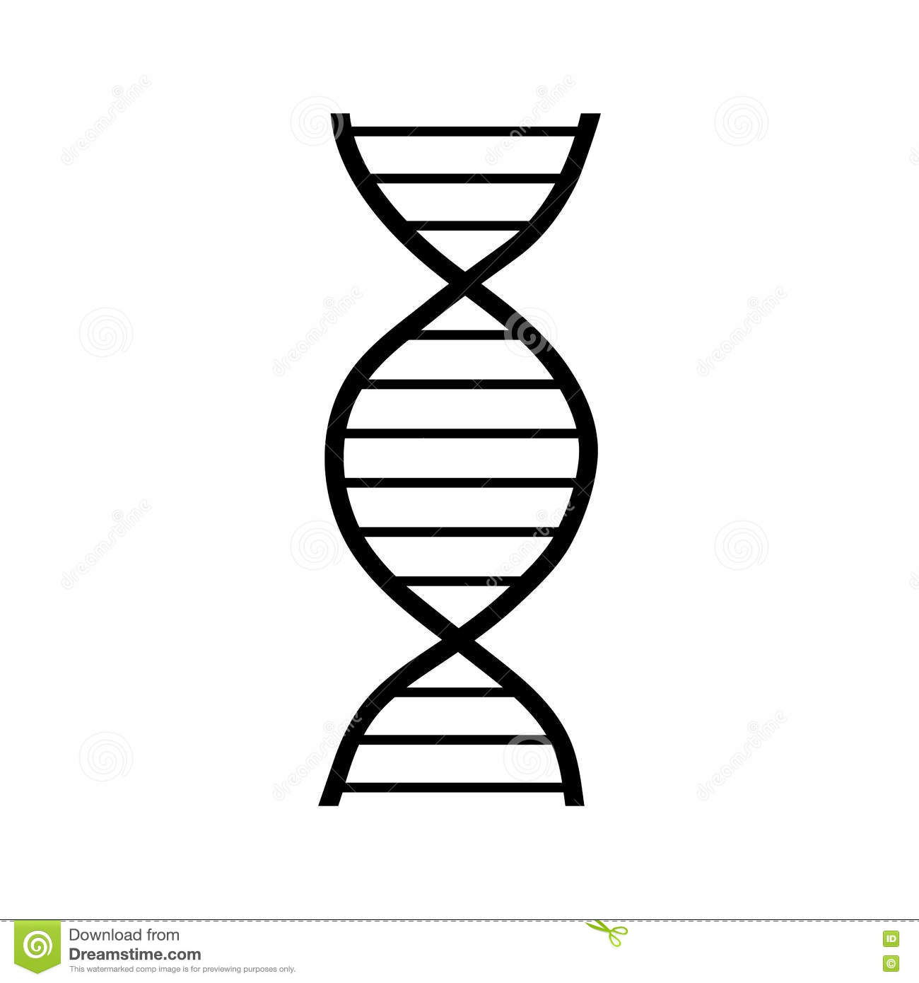 Dna Strand Icon Simple Style Stock Vector