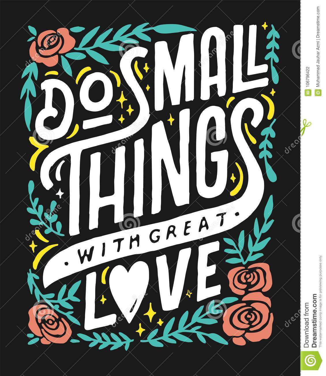 Download DO SMALL THINGS WITH GREAT LOVE 1 COFFEE SHOP VINTAGE HAND ...