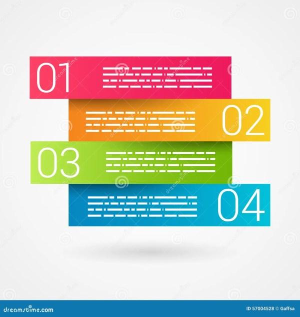 Doble La Carta Numerada Cinta Del Secuence Infographic ...