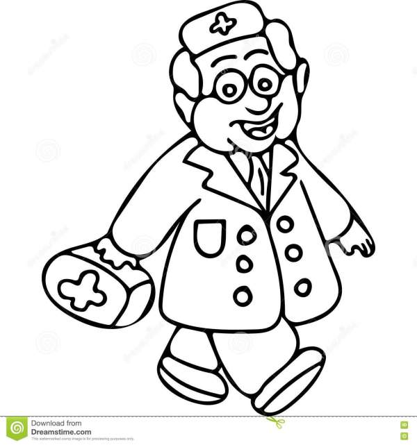 doctor coloring page # 6