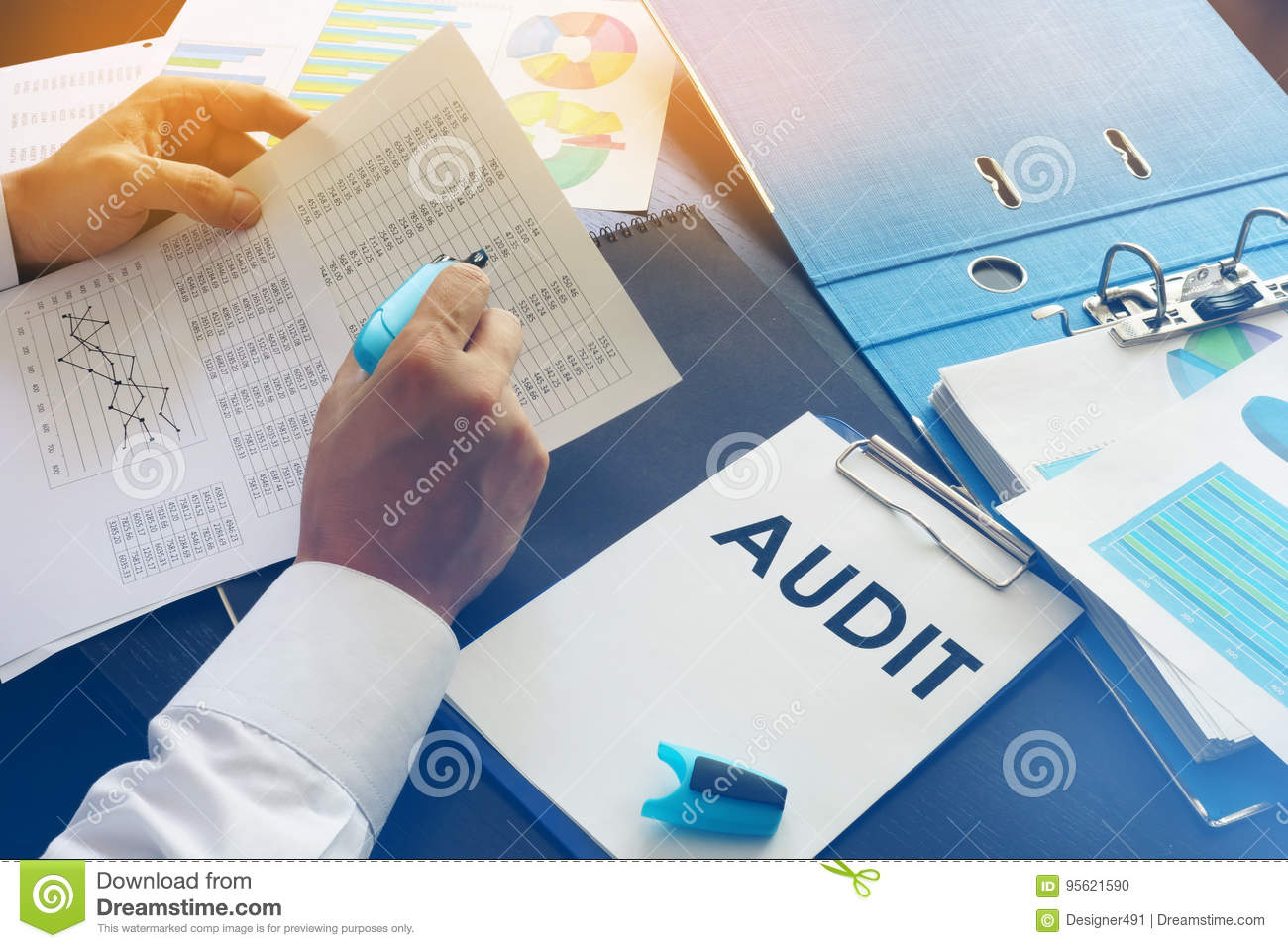 Document With Title Audit Stock Photo Image Of Concept