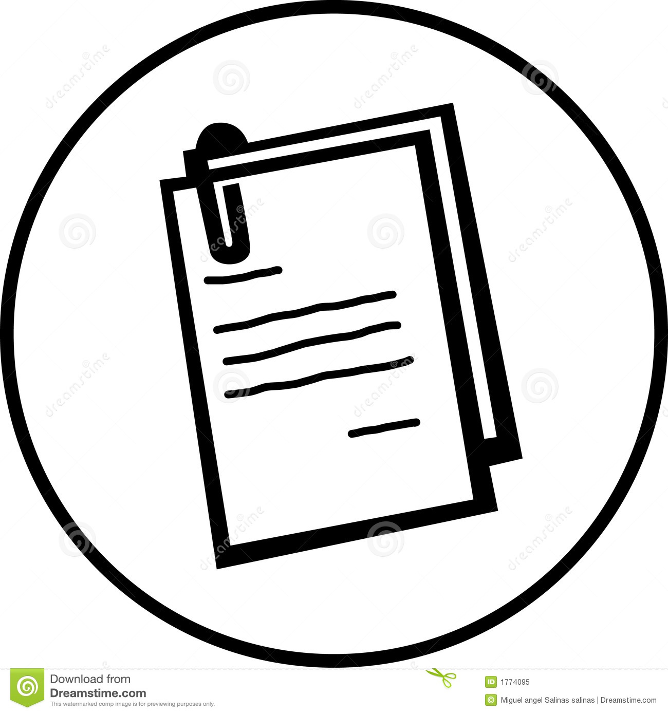 Documents Vector Symbol Royalty Free Stock Photo