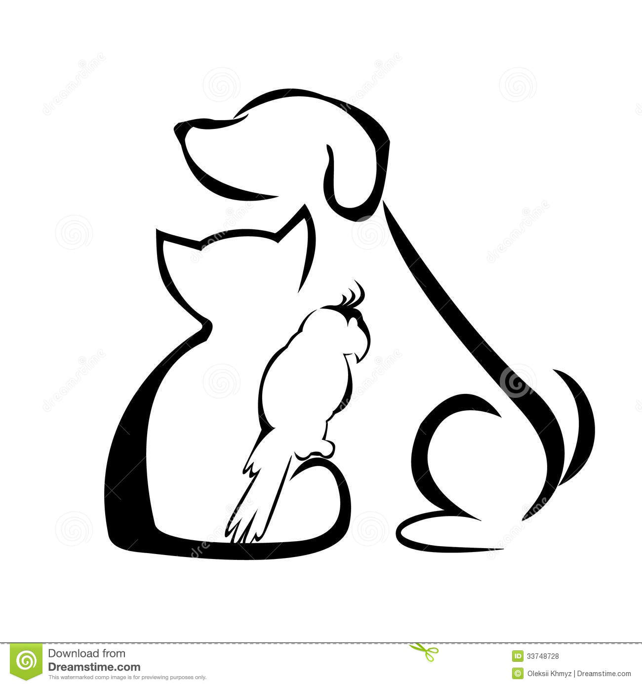 Royalty Free Stock Photos Dog Cat And Parrot Image