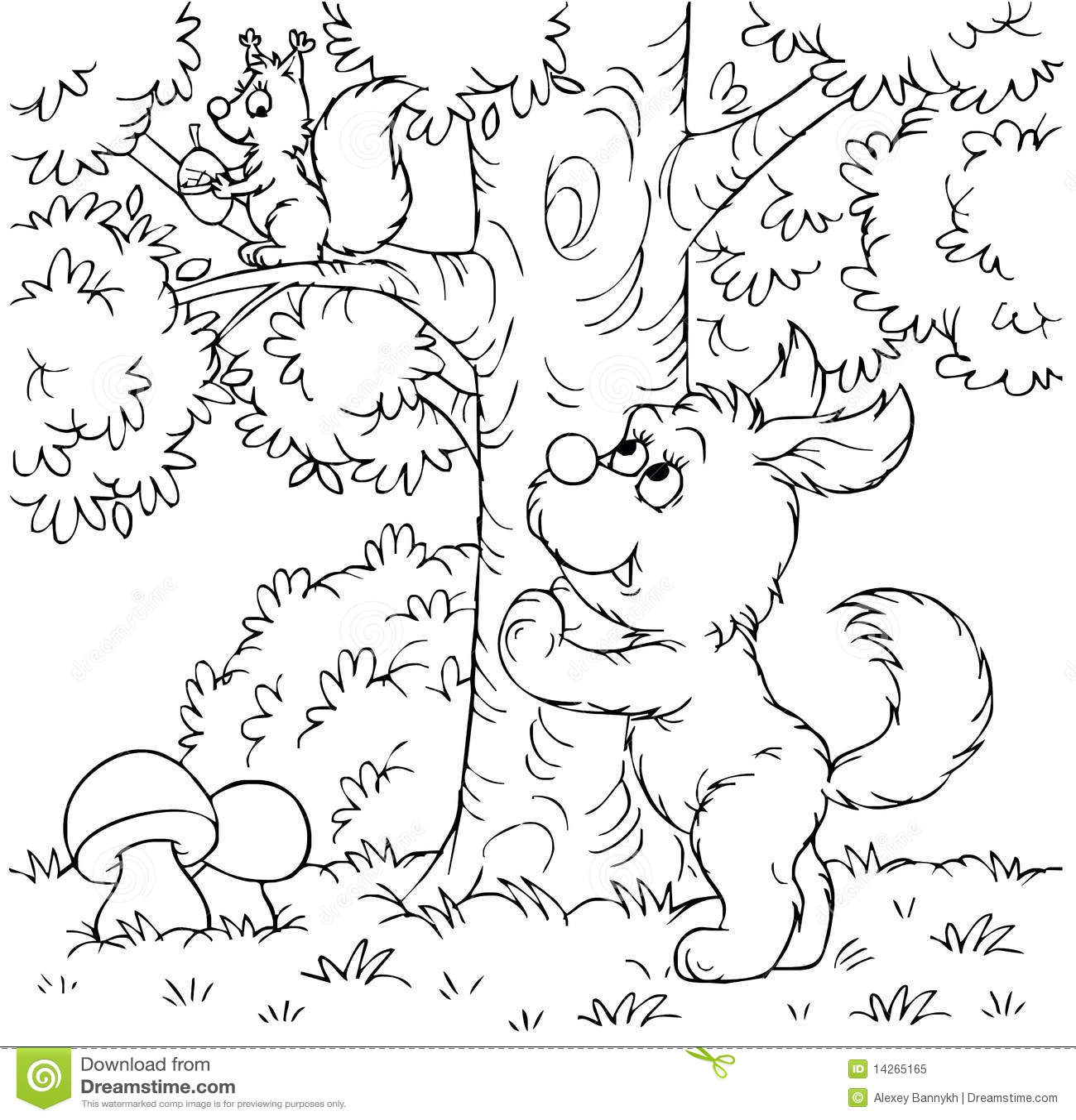 Dog And Squirrel Stock Illustration Illustration Of Clip