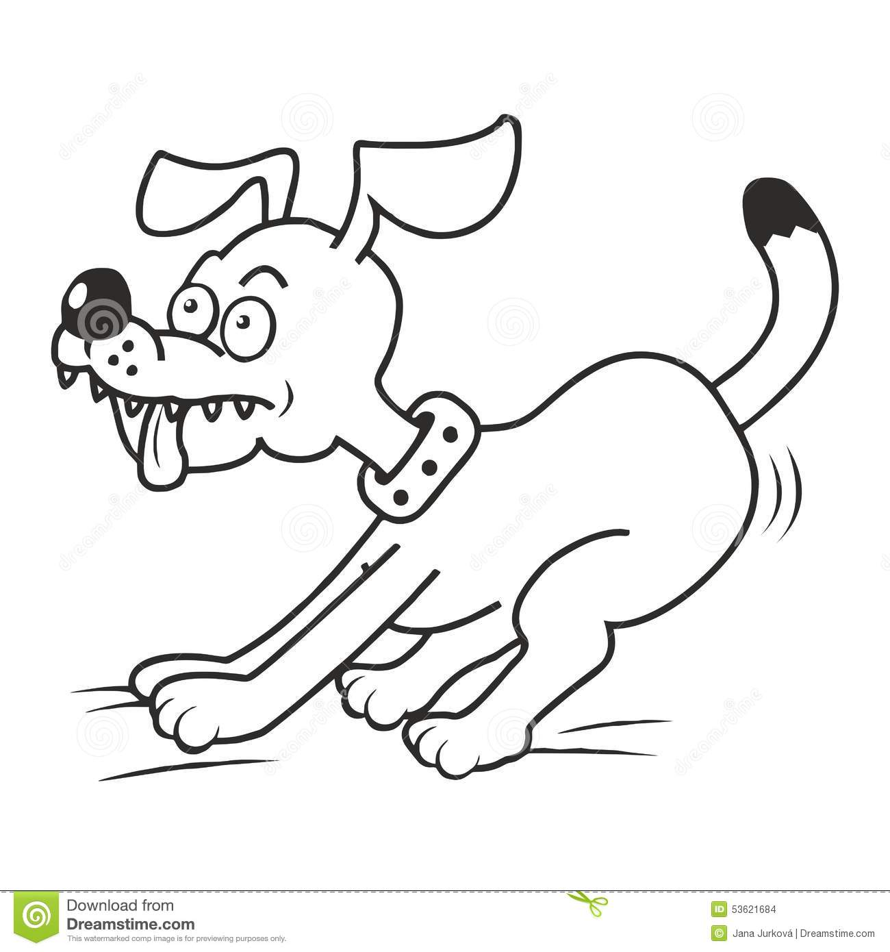 Dog And Tongue Coloring Stock Vector Illustration Of Baby