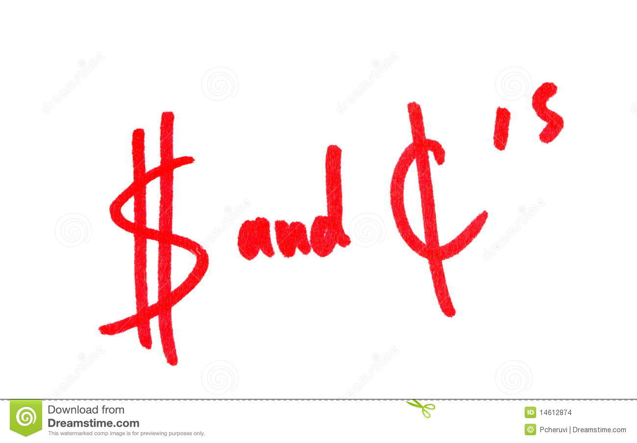 Dollars And Cents Stock Illustration Illustration Of