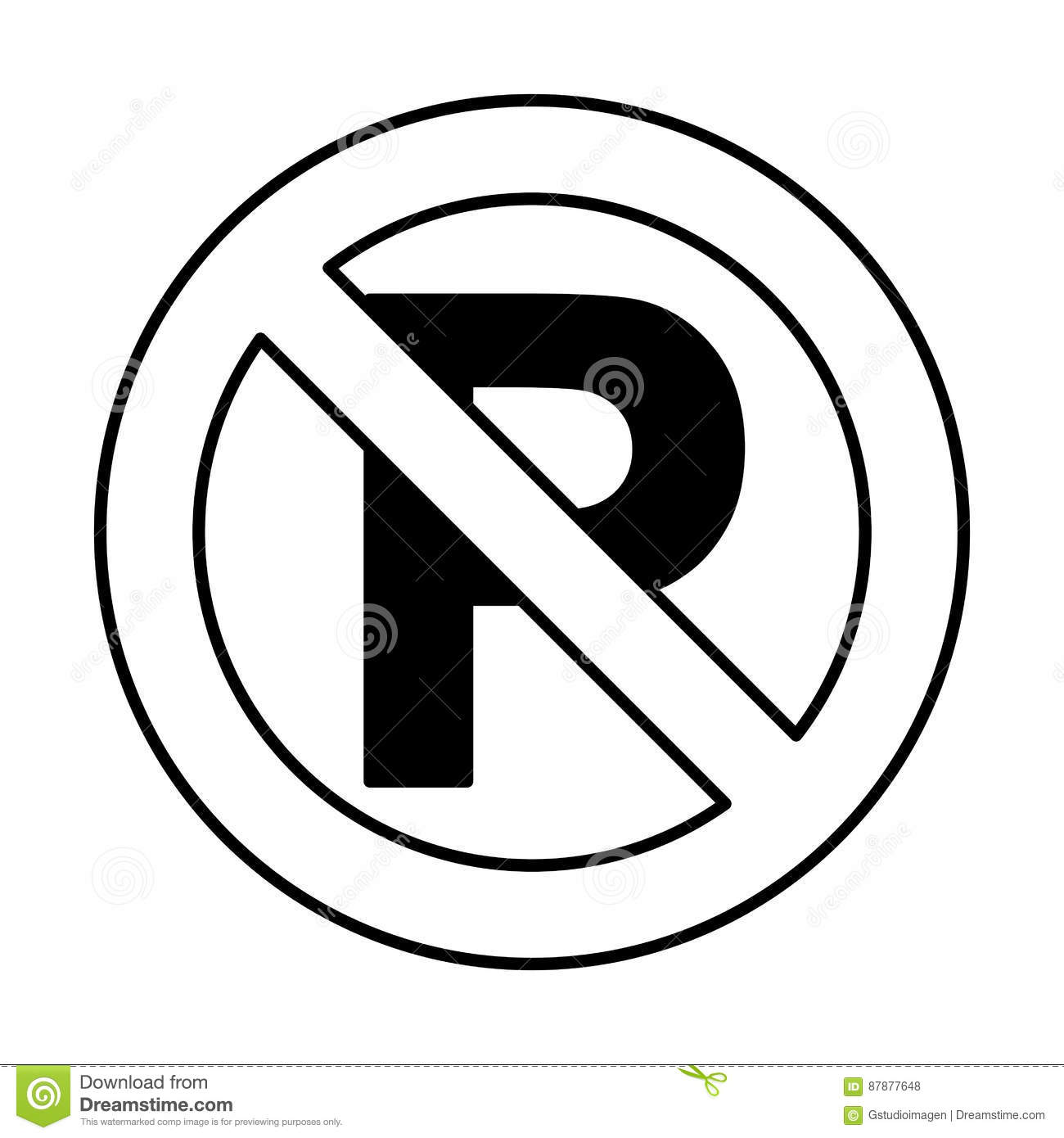 Dont Parking Traffic Sign Stock Vector Illustration Of