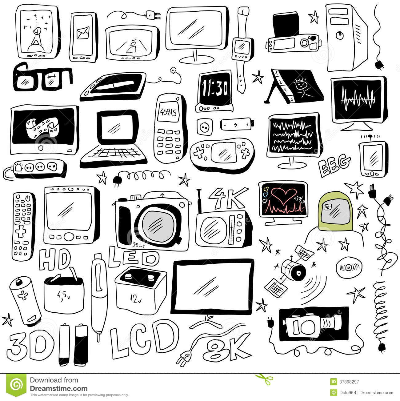 Doodle New Technology Royalty Free Stock Photography
