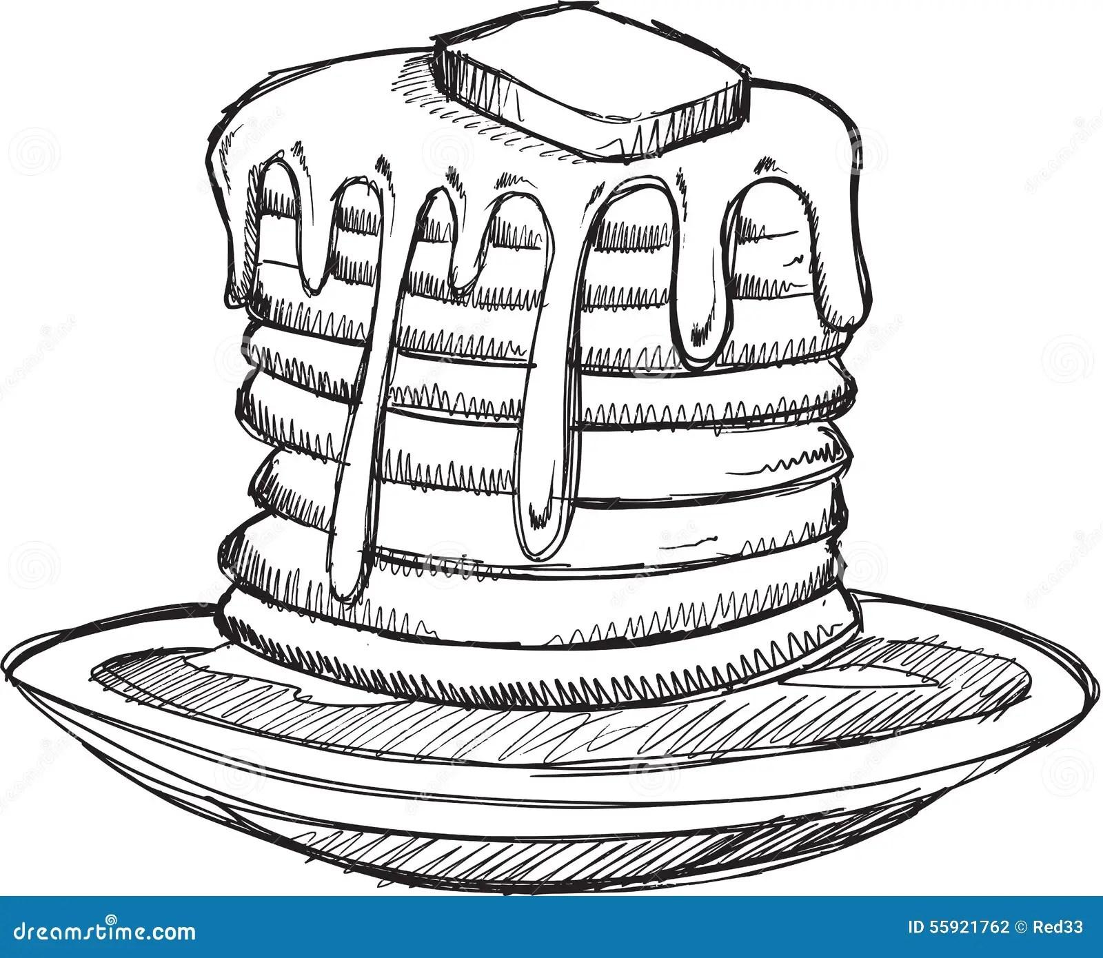 Vector Pancake Honey Sweets Butter Vintage Signboard