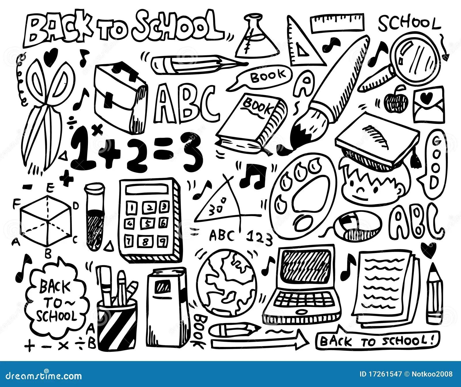Doodle School Stock Vector Illustration Of Math Music