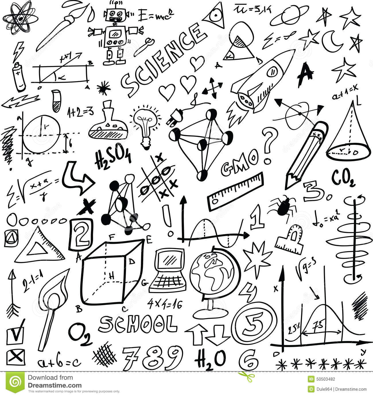 Doodle Science Stock Illustration Image 50503482