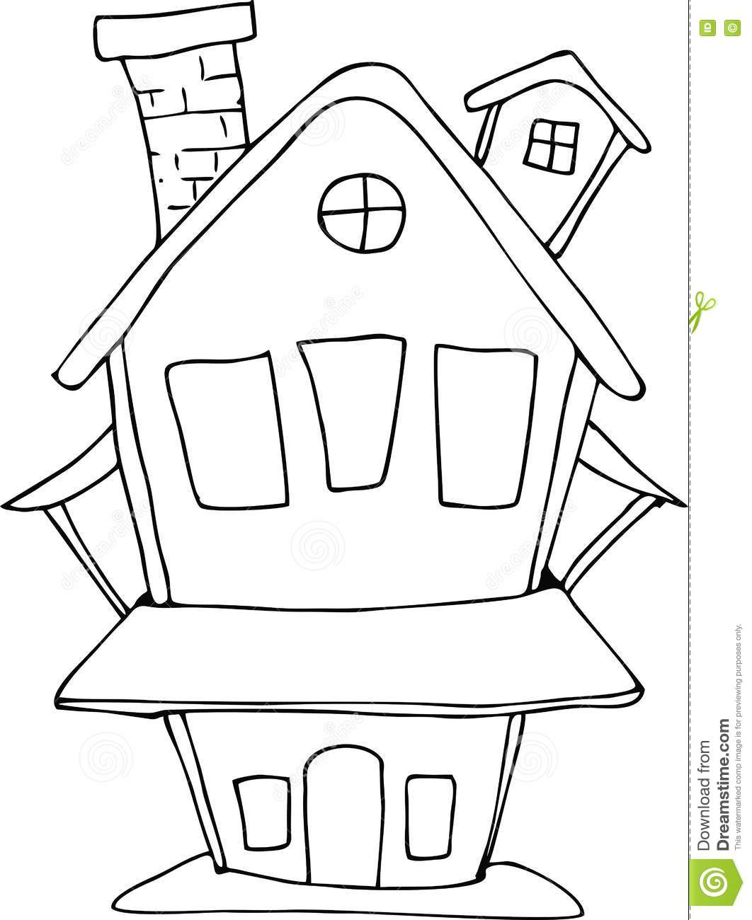 Doodle Style Fairy House Stock Vector Illustration Of