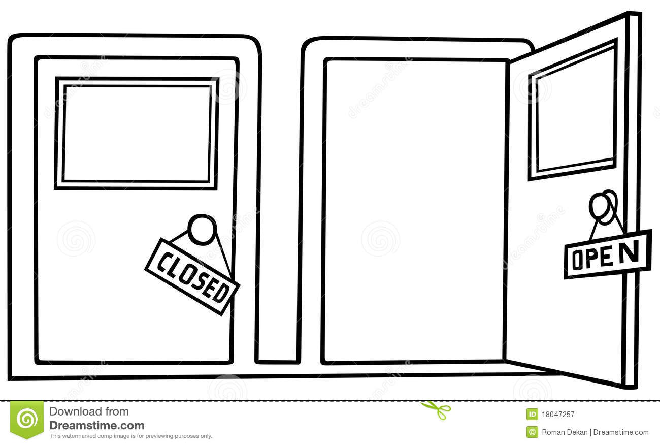Door Open And Close Stock Vector Illustration Of Open