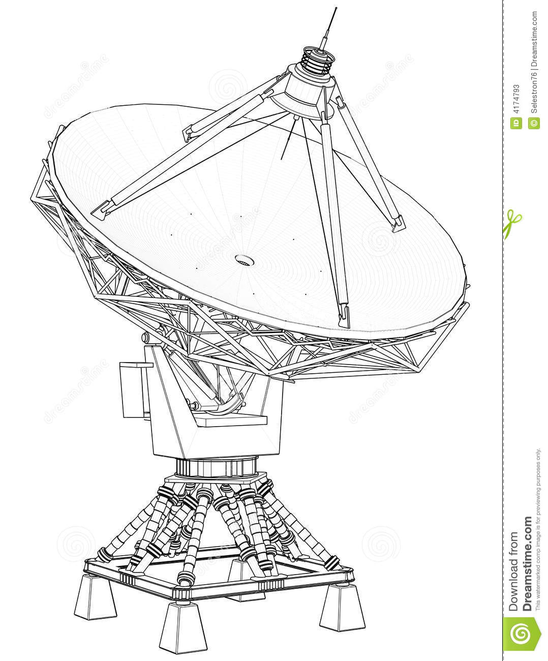 Doppler Radar Technical Draw Stock Photos