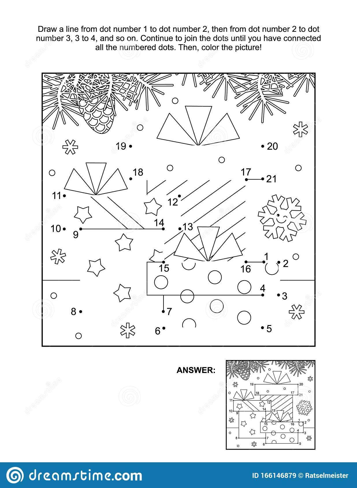 Dot To Dot And Coloring Page With Three T Boxes Stock