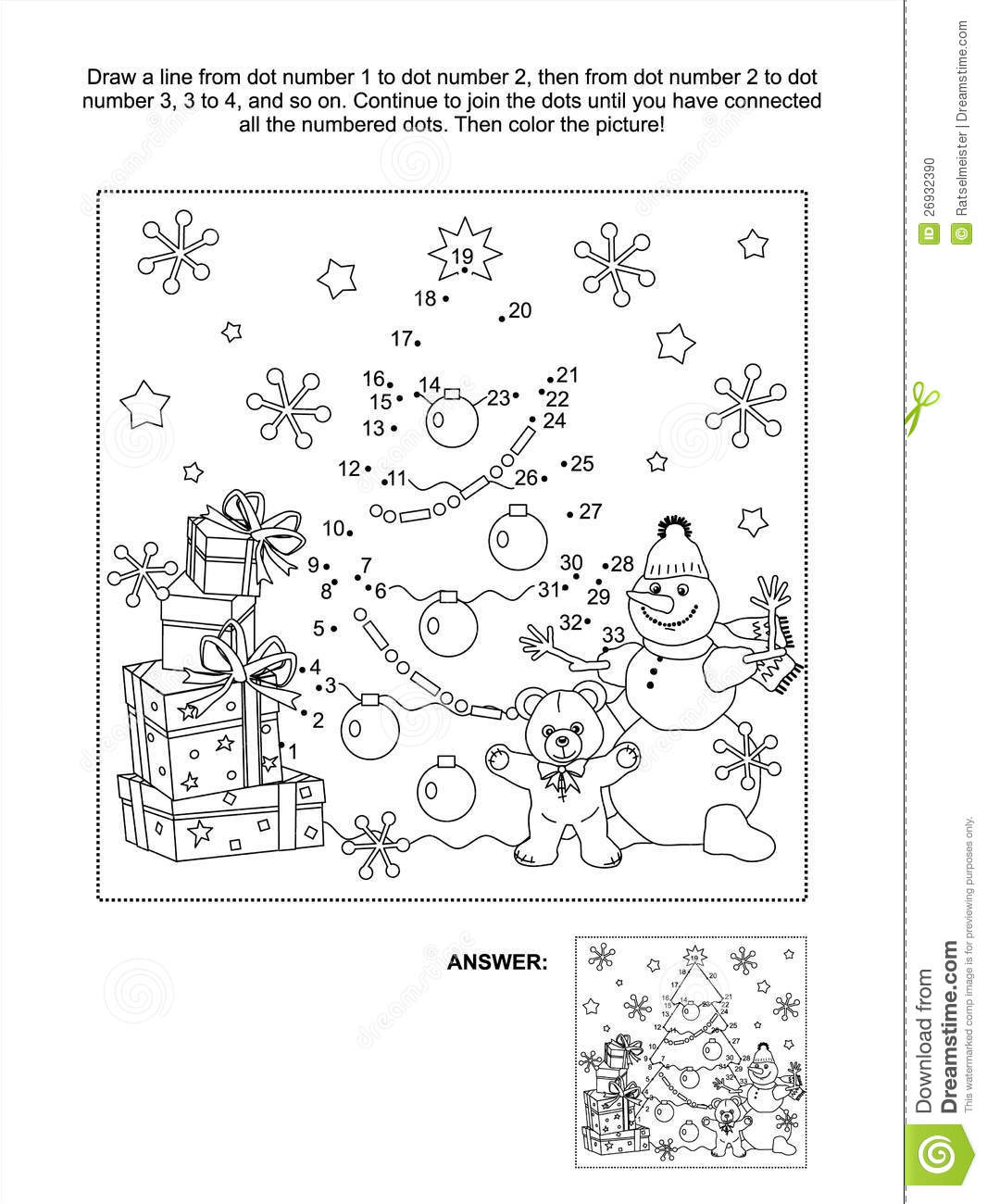 Dot To Dot Activity Page Stock Vector Illustration Of Draw