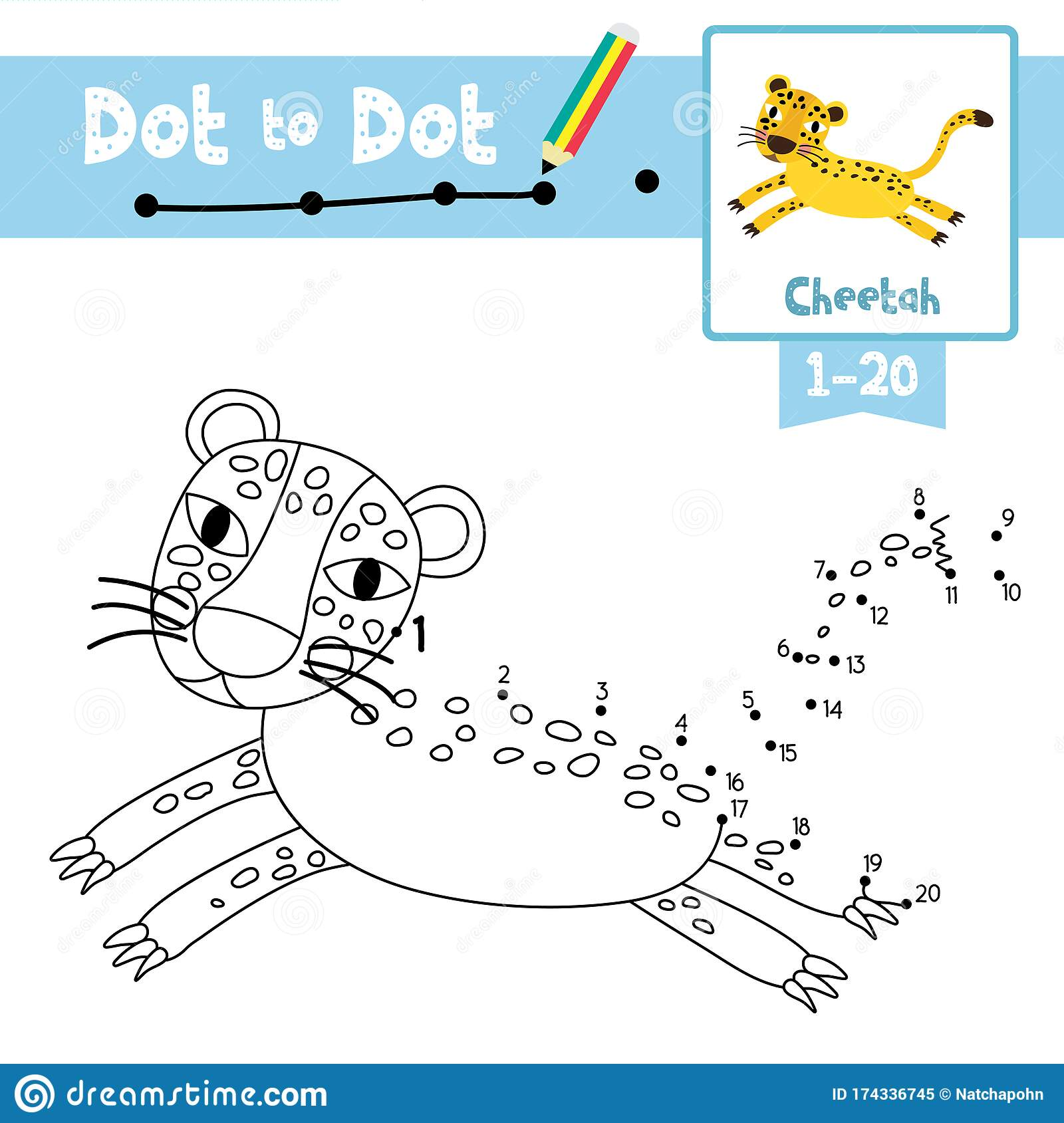 Dot To Dot Educational Game And Coloring Book Jumping