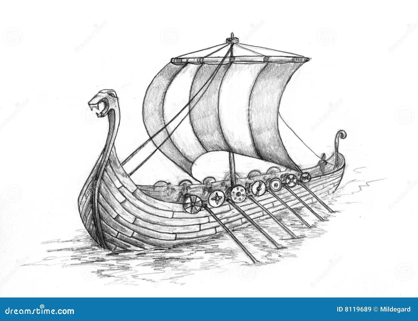 Drakkar 1 Stock De Ilustracion Ilustracion De Oceano