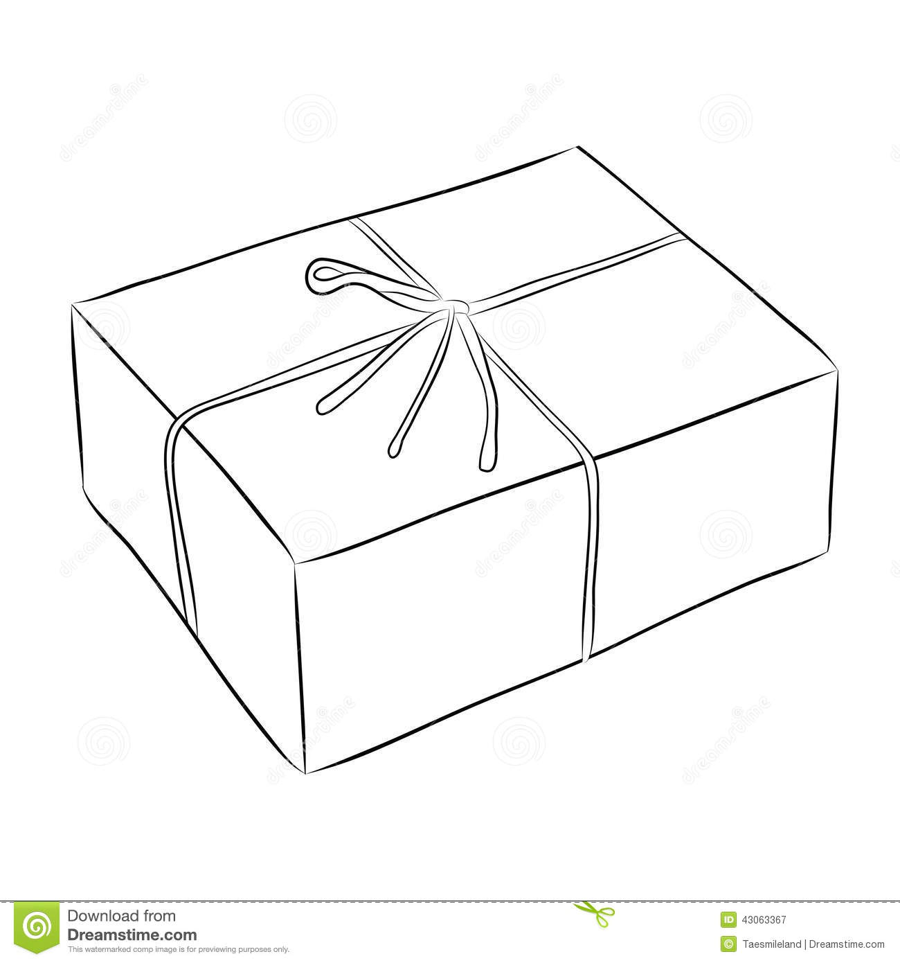Drawing Of Box Stock Vector Illustration Of Mail Cargo