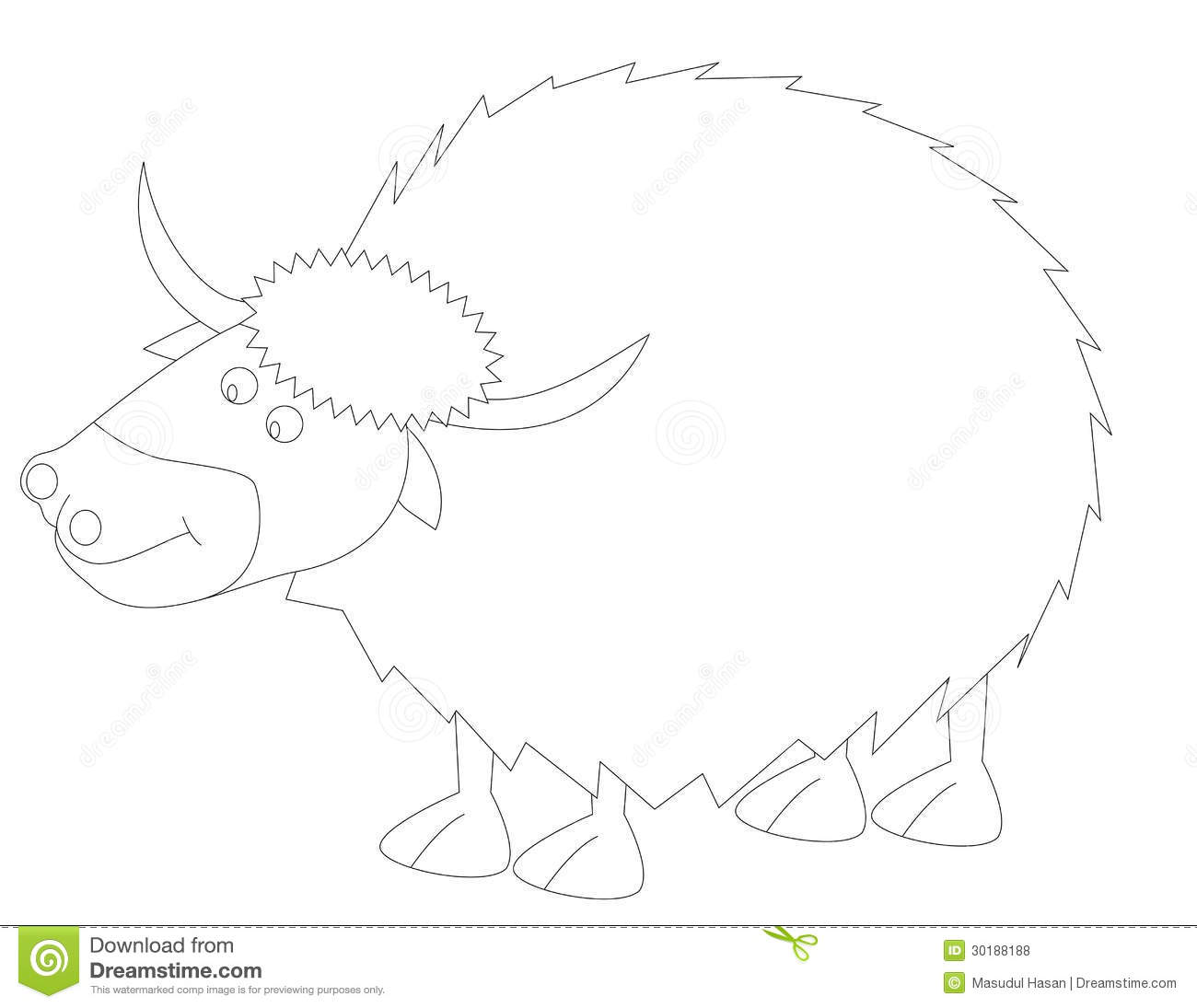 Y For Yak Stock Vector Illustration Of Clipart Animals