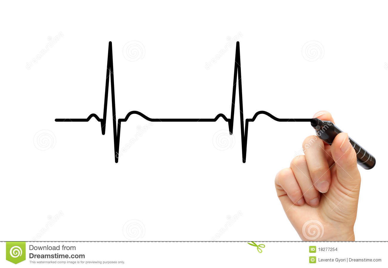Drawing Ecg Stock Photo Image Of Cardiological