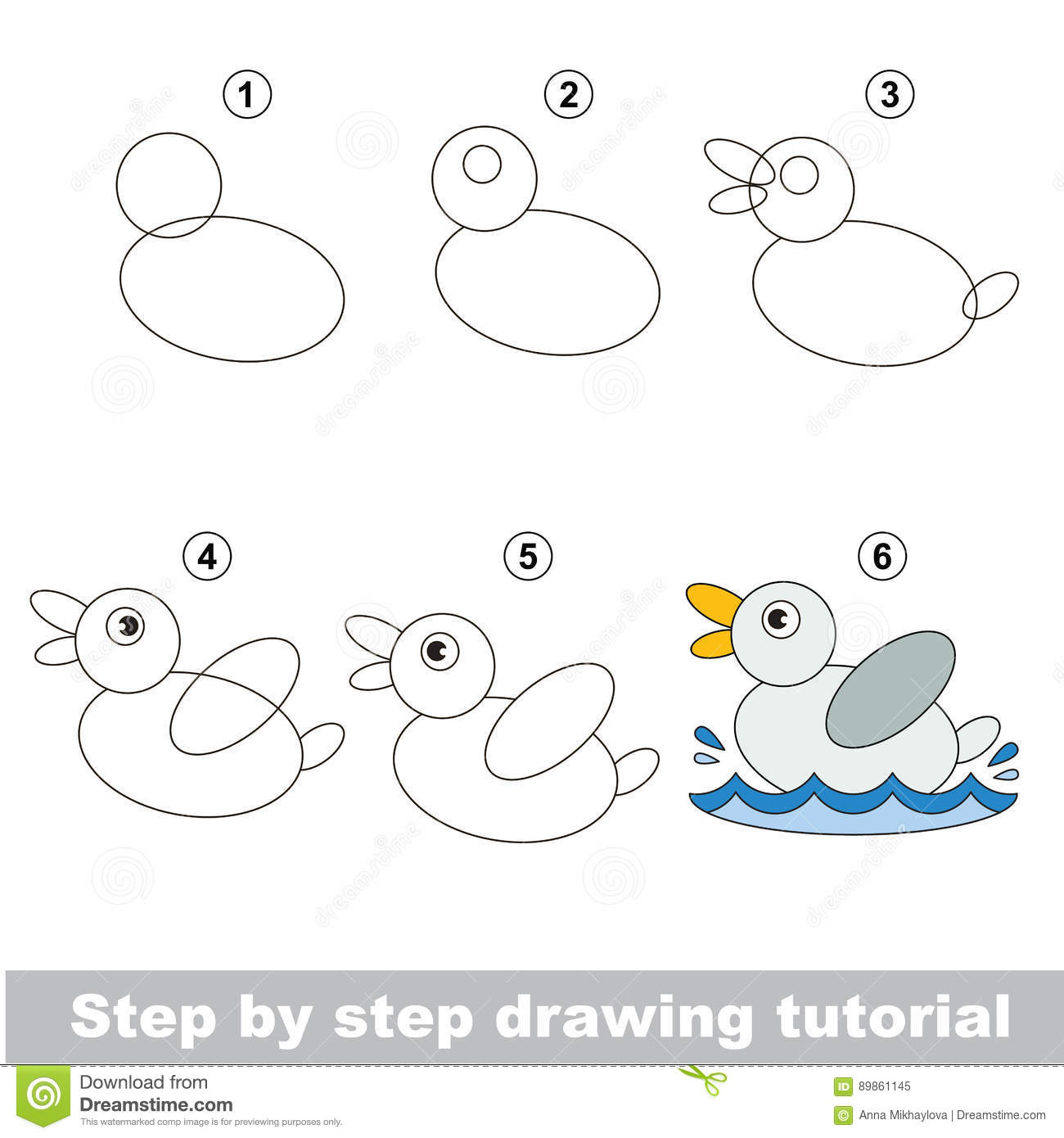 Drawing Tutorial Stock Vector Illustration Of Draw
