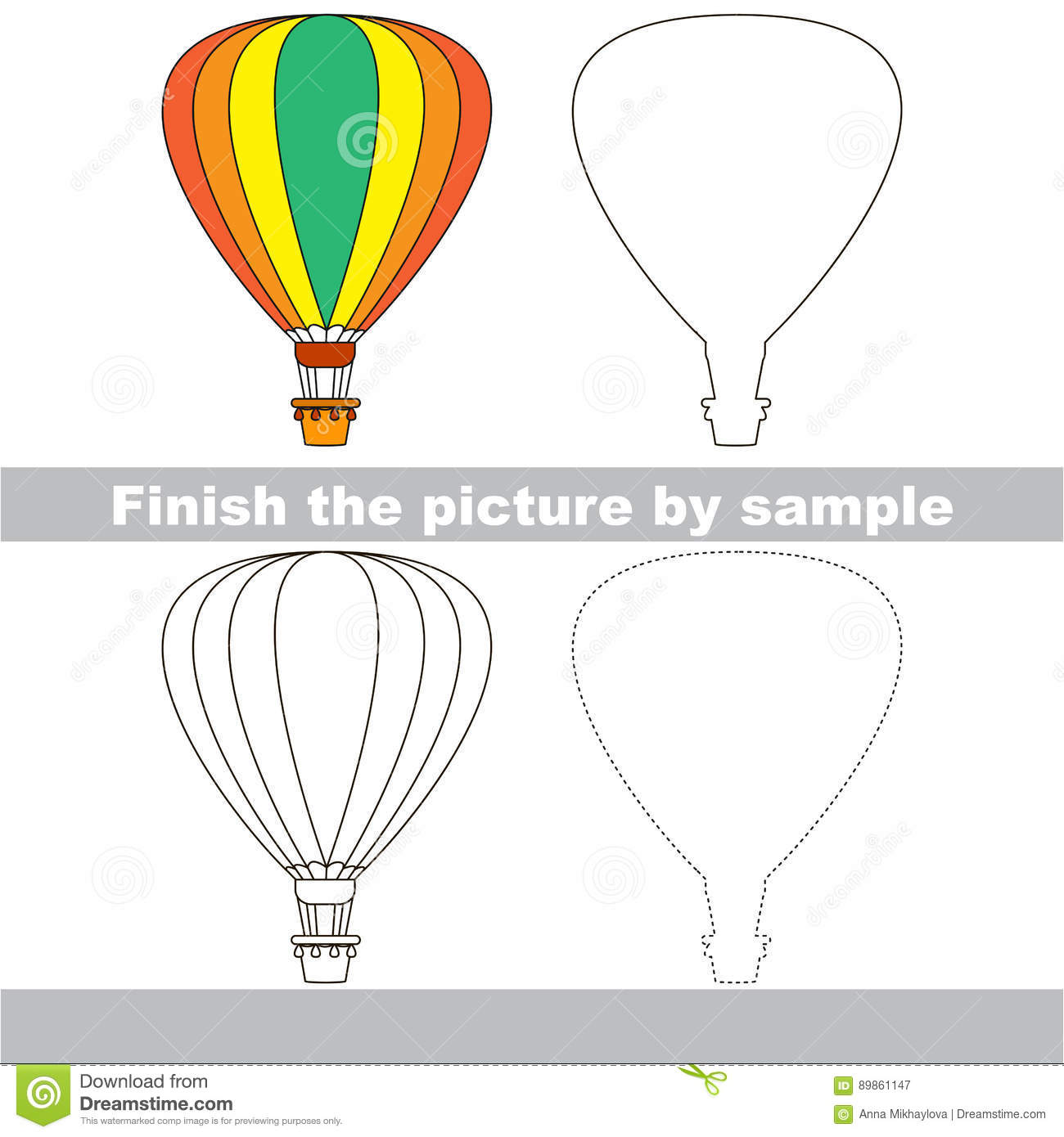 Drawing Worksheet For Toy Transport Stock Vector