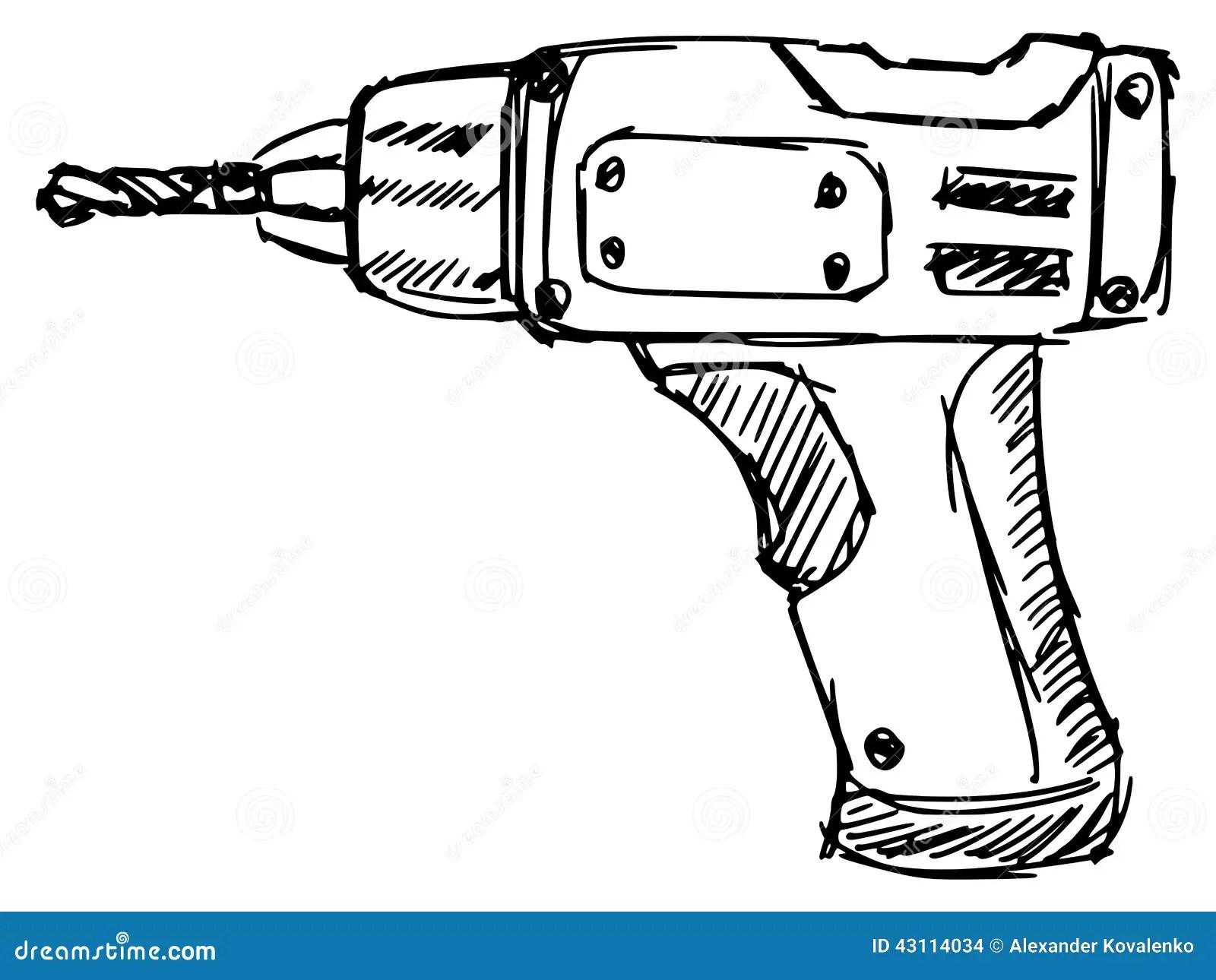 Drill Stock Vector Illustration Of Maintenance Power