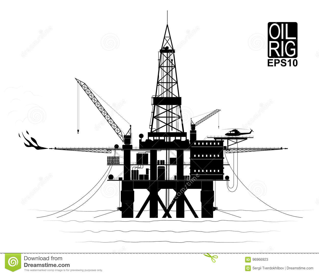 Drilling Platform For Oil Or Gas Production From The Ocean