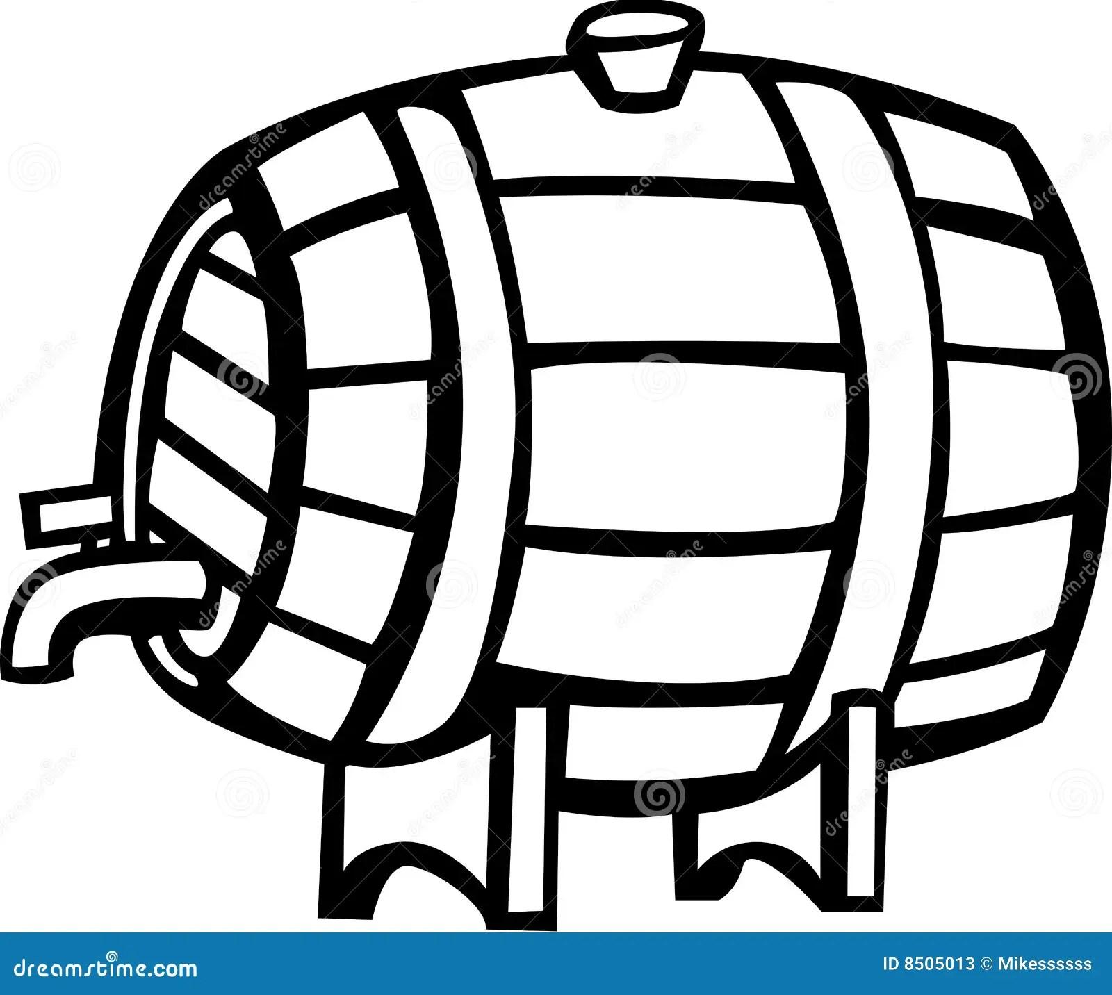 Drink Barrel Vector Illustration Stock Photos