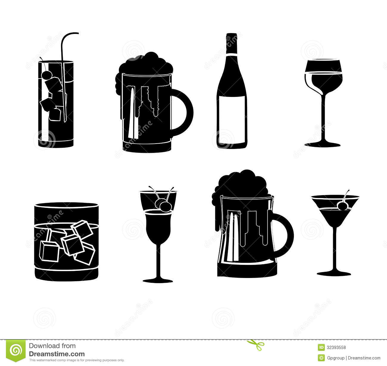 Drinks Icons Stock Vector Image Of Icons Choice