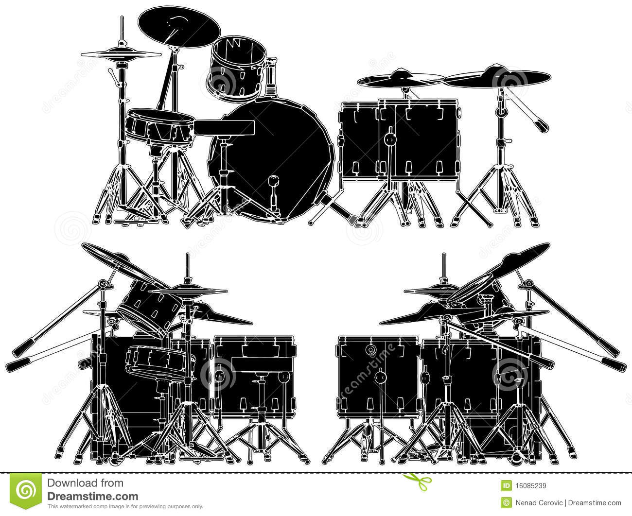 Drums Vector 02 Stock Vector Illustration Of Chair