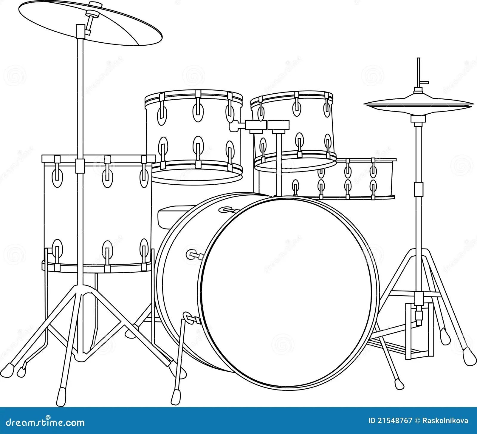 Drumstel Royalty Vrije Stock Fotografie