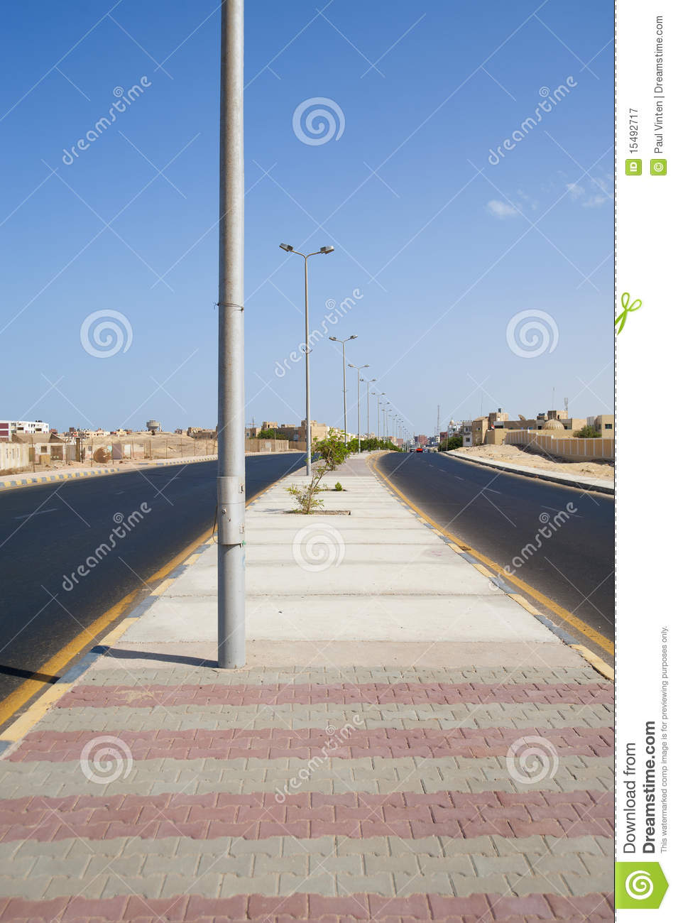 Aspalt Road Near River Under Cloudy Sky Royalty Free Stock