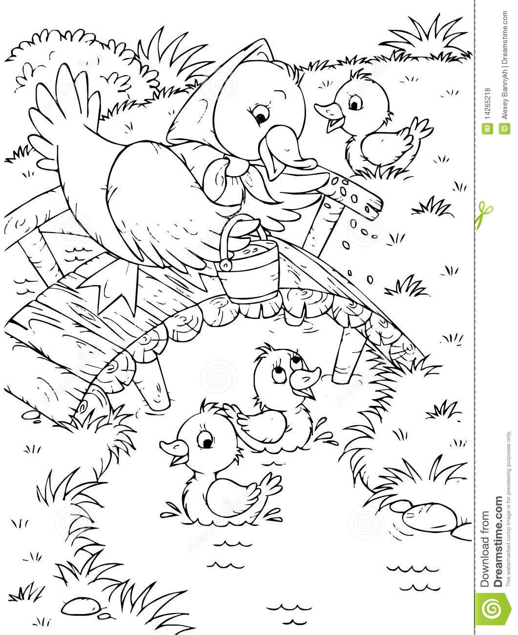 Duck And Ducklings Stock Illustration Illustration Of