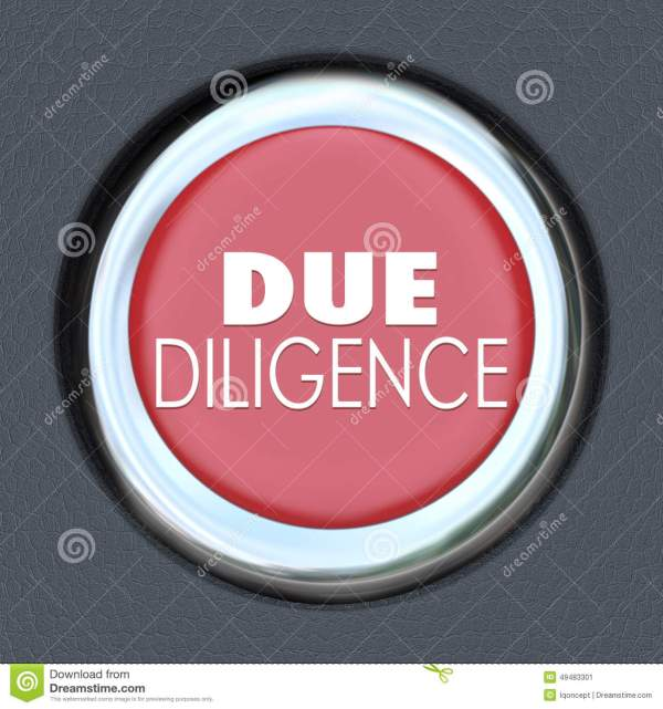 Due Diligence Car Start Button Research Company Merger