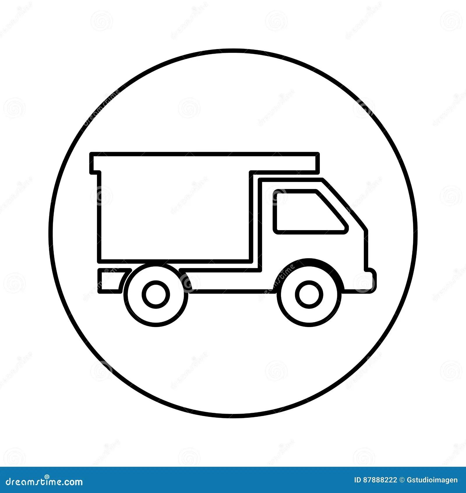 Dump Truck Isolated Icon Stock Vector Illustration Of